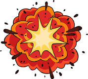 Fiery explosion. On white background vector Stock Photo