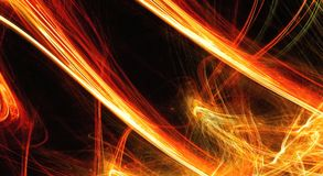 Fiery extravaganza. Golden fractal abstract background Stock Photos