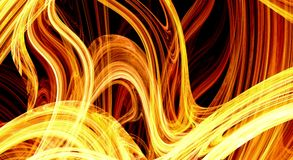 Fiery extravaganza. Golden fractal abstract background Stock Images