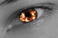 Fiery eye Royalty Free Stock Image
