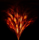 Fiery fireworks. Abstract fiery fireworks Royalty Free Stock Image