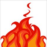 Fiery flame, burning fire, ring fire strips stock illustration