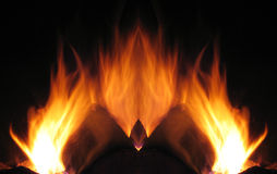 Fiery flames Royalty Free Stock Image