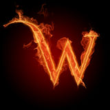 Fiery font Stock Images