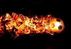 Fiery football Stock Image