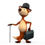 Fiery foxes the Gentleman. On walk Royalty Free Stock Photo