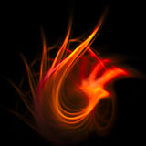 Fiery fractal. Fiery swirl fractal on a black backgrond Stock Images