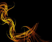 Fiery Fractal. An abstract fractal layout that looks like lines of fire Royalty Free Stock Photos