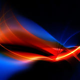 Fiery Fractal Design. A glowing fractal design that works great as a background or backdrop Stock Image