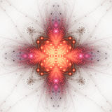 Fiery fractal shape Royalty Free Stock Photos