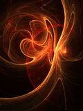 Fiery fractal stream of energy. Digital artwork for creative graphic design Royalty Free Stock Photos