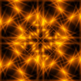 Fiery star. Abstract background - Fiery neon star Royalty Free Stock Photos