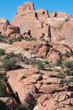 Fiery Furnace. Eroded sandstone layers in the Fiery Furnace section of Arches National Park Stock Photos