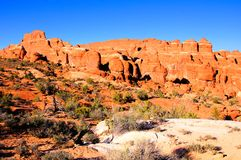 Fiery Furnace, Arches National Park Stock Photography