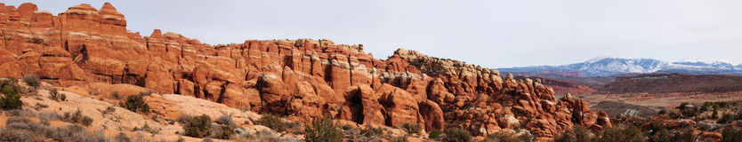 Fiery Furnace at arches national park Royalty Free Stock Photos