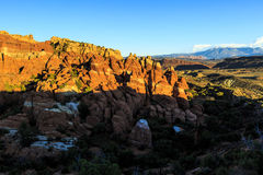 Fiery Furnace at Arches National Park Royalty Free Stock Photo