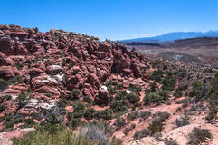 Fiery Furnace in Arches National Park,  Utah Royalty Free Stock Photo