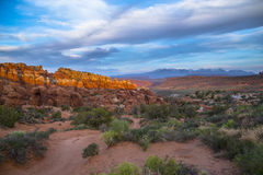 Fiery Furnace Overlook Arches National Park Royalty Free Stock Images