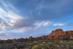 Fiery Furnace Overlook Arches National Park Stock Photos