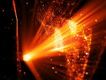 Fiery glowing innovated space technology. Computer generated abstract background, 3D rendering Royalty Free Stock Photos
