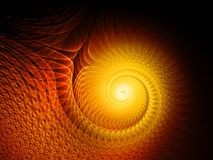 Fiery glowing multidimensional spiral. Computer generated abstract background, 3D rendering Stock Images