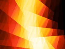 Fiery glowing rectangles in space Royalty Free Stock Photos