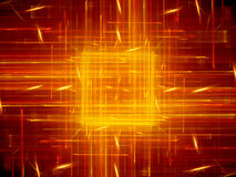 Fiery glowing square with lines new technology Royalty Free Stock Image