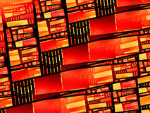 Fiery glowing stained glass. Computer generated abstract background, 3D rendering Royalty Free Stock Images