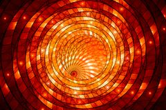 Fiery glowing stained-glass. Computer generated abstract background, 3D rendering Stock Photo