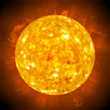 Fiery Glowing Sun. Burning ball of fire.  A great 3D illustration of the sun Stock Photography