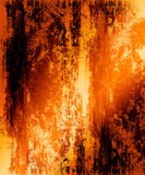 Fiery Grunge Background. Bright fiery orange, yellow, and red tones grunge background abstract design Stock Image