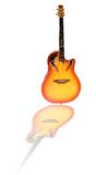 Fiery Guitar with reflection Royalty Free Stock Photos