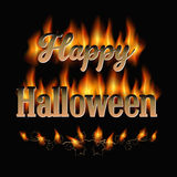 Fiery Halloween Royalty Free Stock Photography
