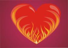 Fiery heart Stock Photo