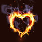 Fiery Heart. Illustration of a passionate burning heart concept Stock Images