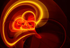 Fiery heart. Abstract fiery heart. Valentine day illustration Stock Photography