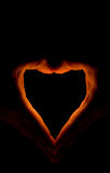 Fiery Heart Royalty Free Stock Image