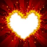 Fiery heart card 3 Royalty Free Stock Photography