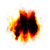 Fiery Hole Layout. A fiery background with a hole burnt in the center.  Plenty of copyspace for your text Stock Photography