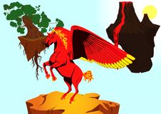 Fiery horse Stock Image