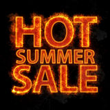 Fiery hot summer sale design template. Stock Photos