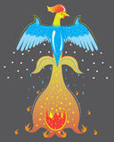 Fiery ice rooster, symbol of year. Illustration Royalty Free Stock Photos