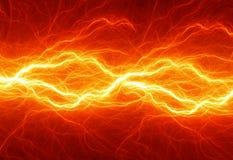 Fiery lightning Royalty Free Stock Photos
