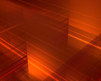 Fiery lines. Abstract fiery orange lines are in space Stock Images