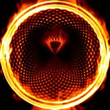 Fiery loop. Computer generated illustration of ring of fire Stock Images