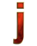 Fiery lowercase j. Lowercase j in fiery red & gold isolated on white series Stock Image