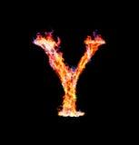Fiery magic font - Y royalty free stock photos