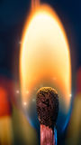 Fiery match Stock Image
