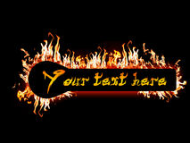Fiery message. Blank message Fire banner - Highly detailed illustration with flames with blank space Stock Photography