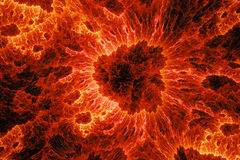 Fiery microscopic world Royalty Free Stock Photo